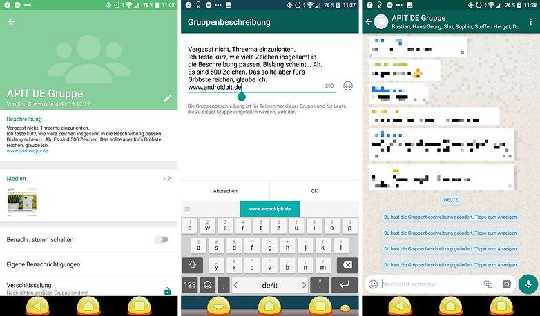 whatsapp beschreibungen 2018 jan