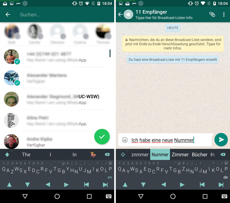 whatsapp chat löschen sieht das der empfänger