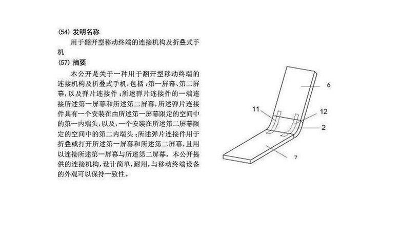 xiaomi foldable patent