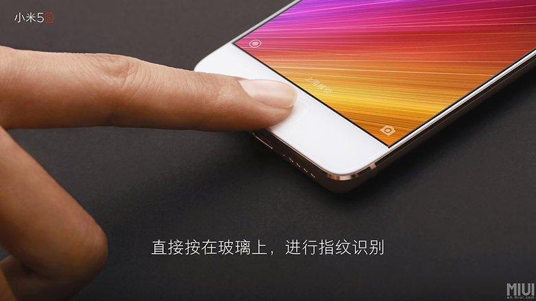 xiaomi mi 5s fingerprint sensor