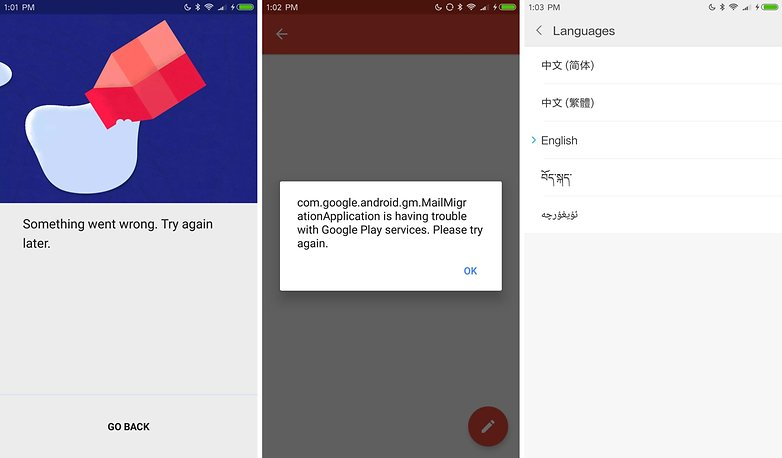 xiaomi mi 6 cn rom errors languages