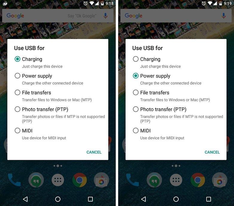 nexus 5x 6p power supply android marshmallow usb type c