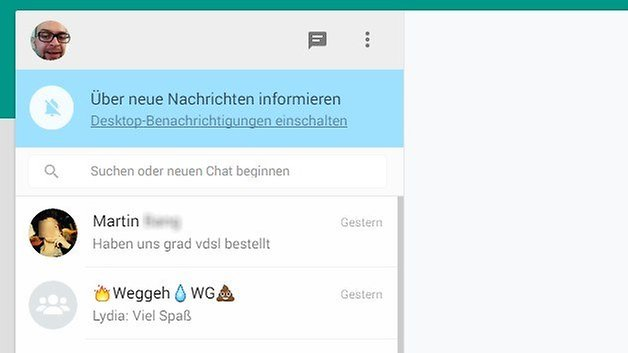notifications whatsapp web de