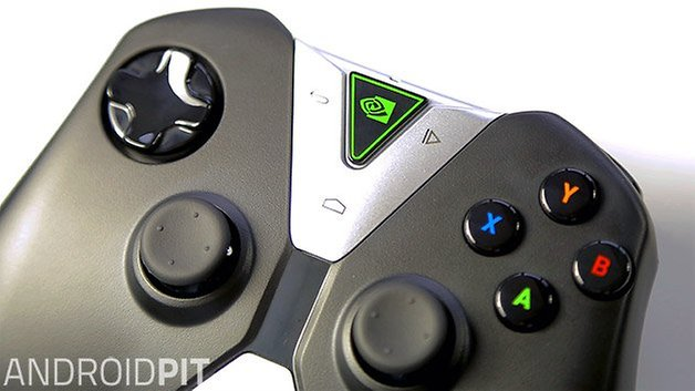 nvidia shield tablet android controller close up