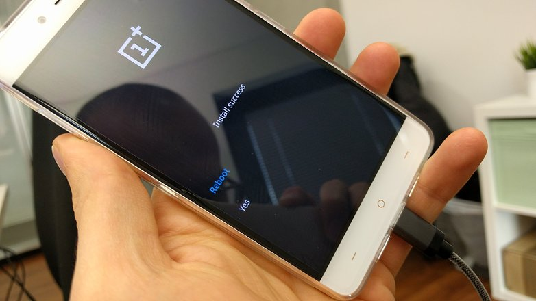 oneplus x android update installation success