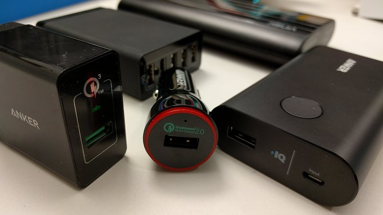 quick charge devices closeup