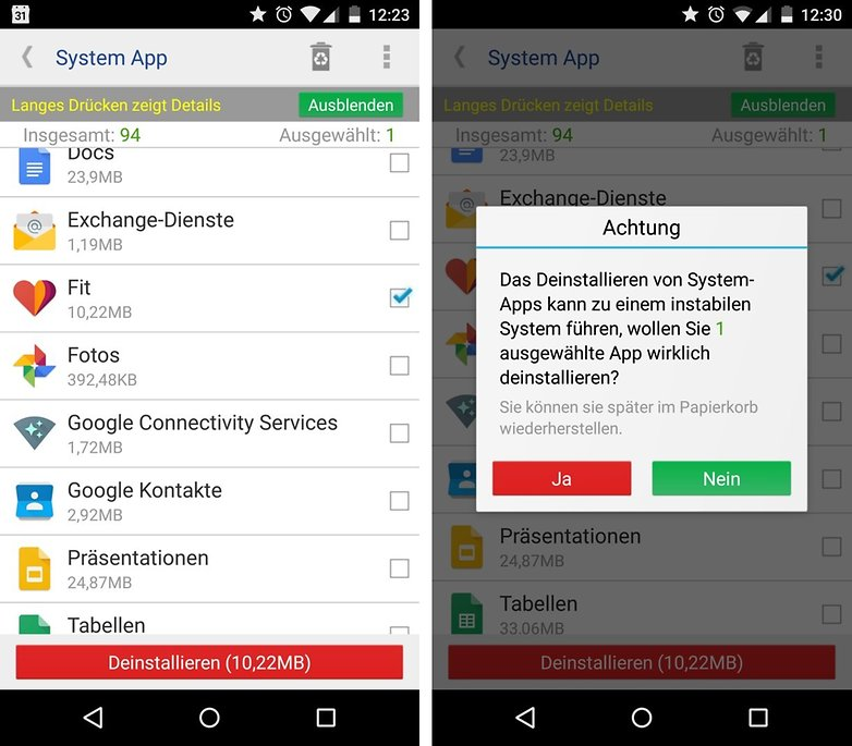 system apps remover de