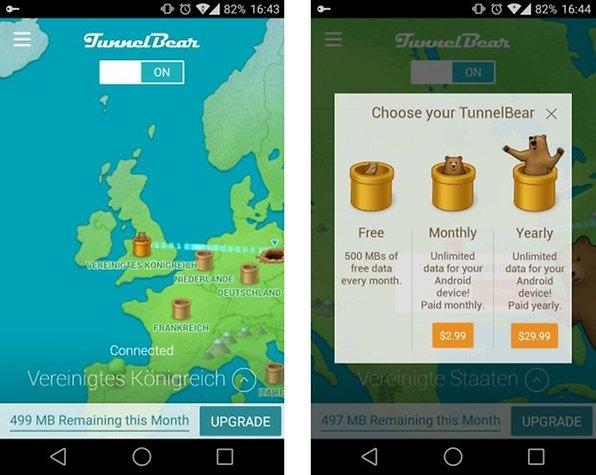 TunnelBear: Update der VPN-App bringt besseres Interface und mehr