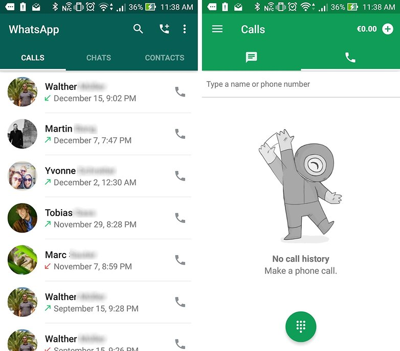 whatsapp vs hangouts calls