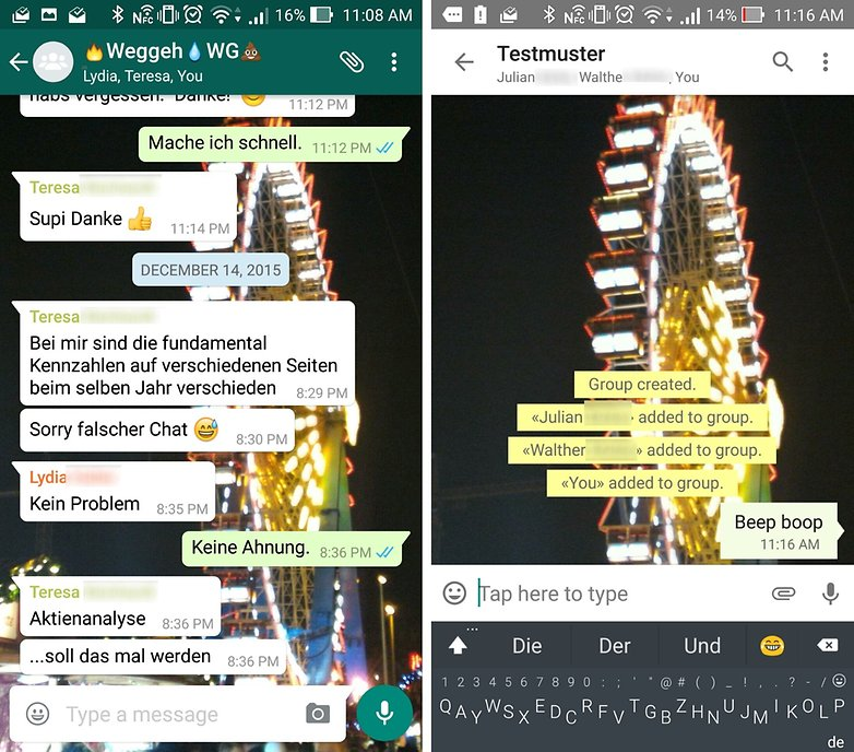 whatsapp vs threema group chat
