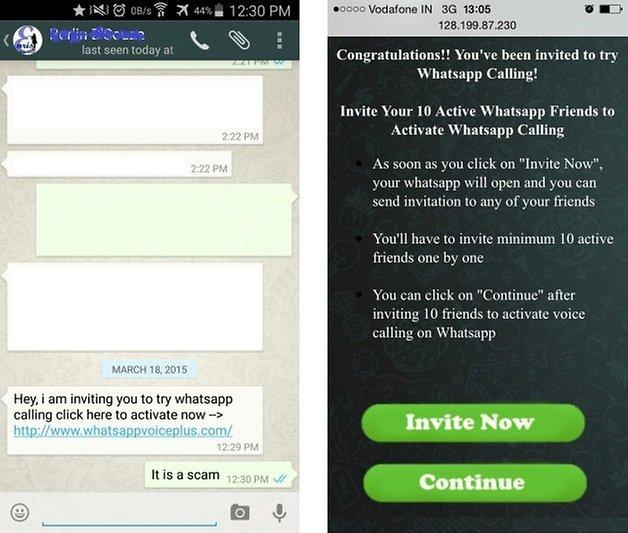 whatsapp calling scam