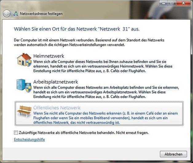 windows 7 netzwerk einrichten