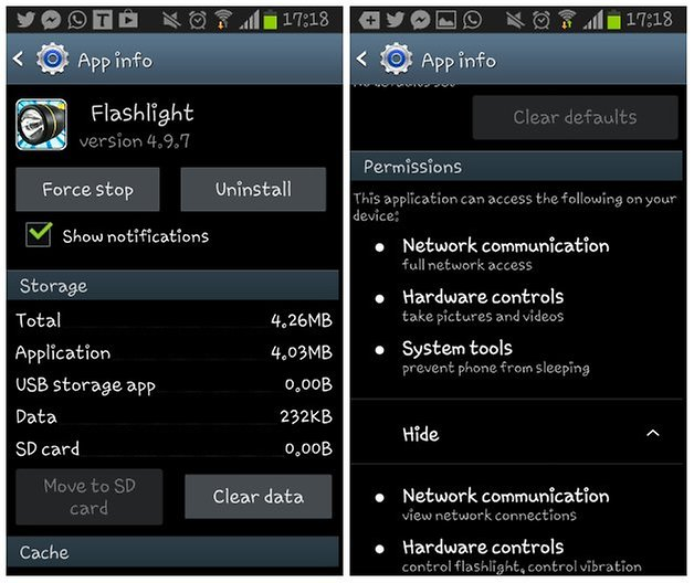 Androidpit permissions screenshot one