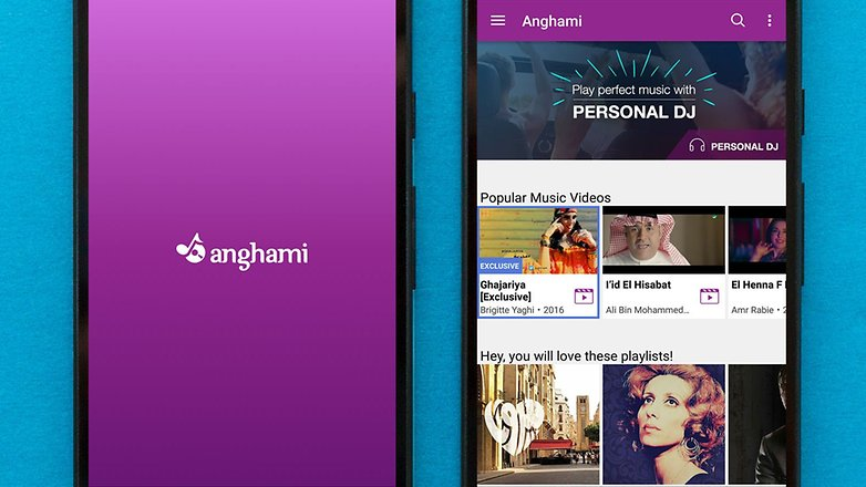 AndroidPIT best free android music apps anghami