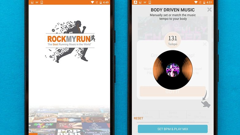 AndroidPIT best free android music apps rockmyrun
