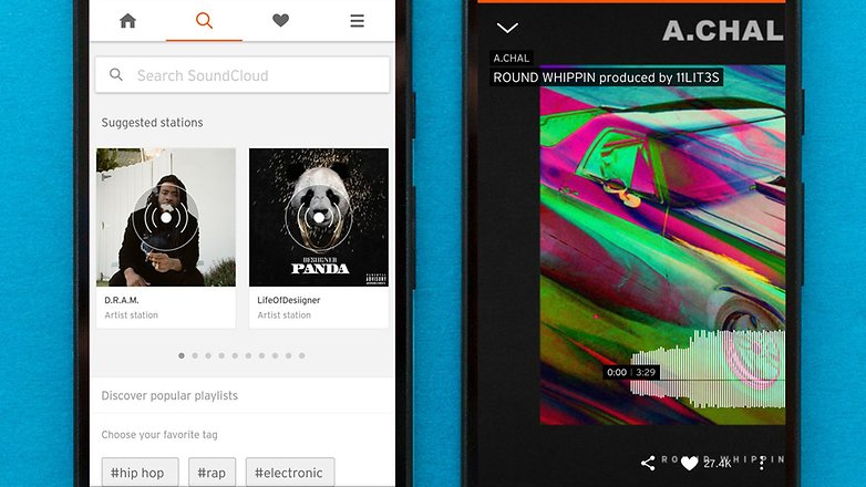 AndroidPIT best free android music apps soundcloud