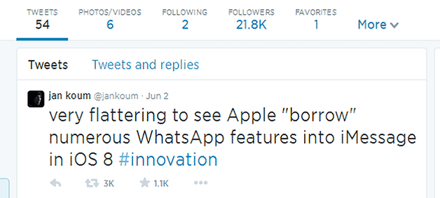 android jan koum twitter quote