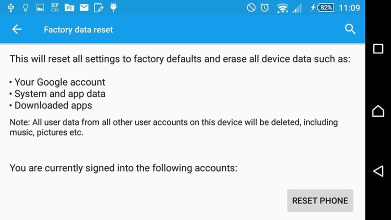 andoridpit factory reset sony xperia