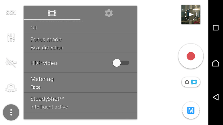andoridpit hdr video settings screenshot