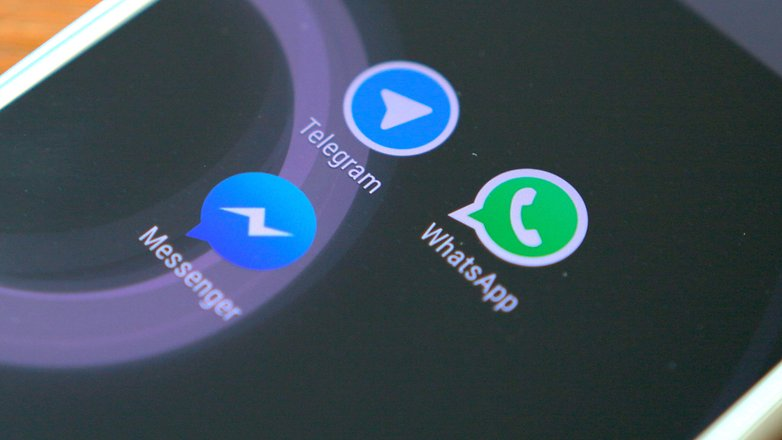 androidpit facebook messenger vs whatsapp vs telegram