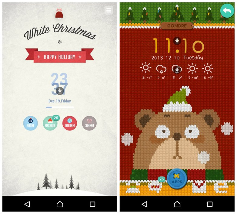 androidpit merry christmas android themes