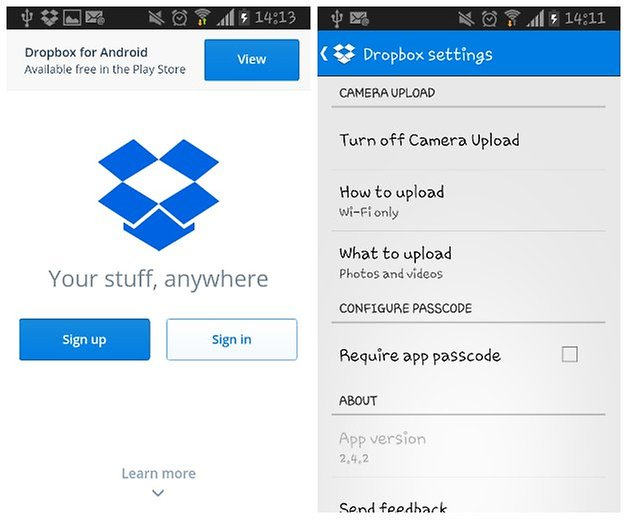 androidpit dropbox screenshot