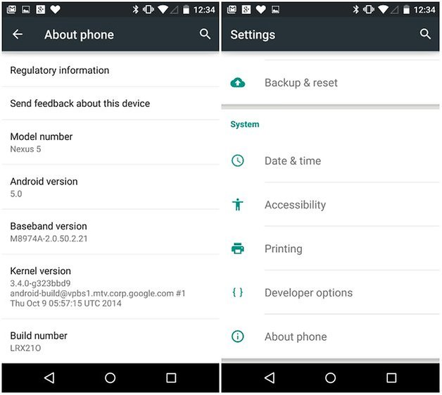 androidpit enable developer options
