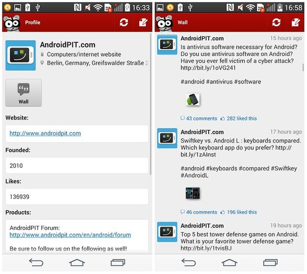 androidpit facebook app alternatives three