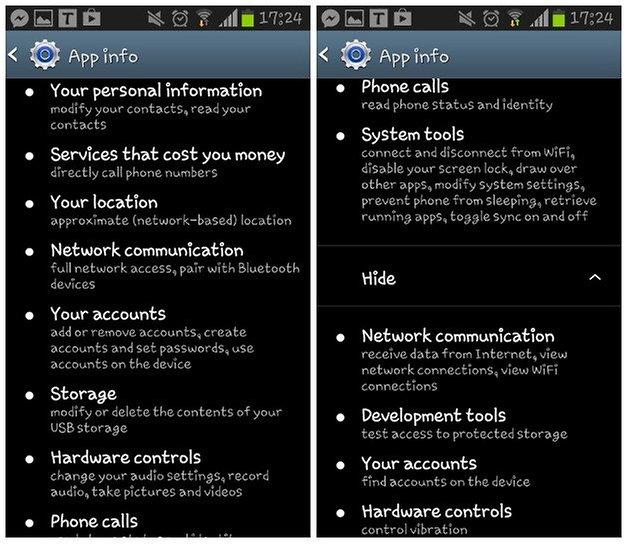 androidpit permissions screenshot three