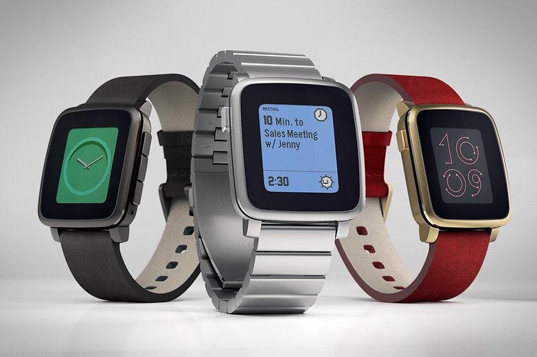 androidpit Pebble Time Steel