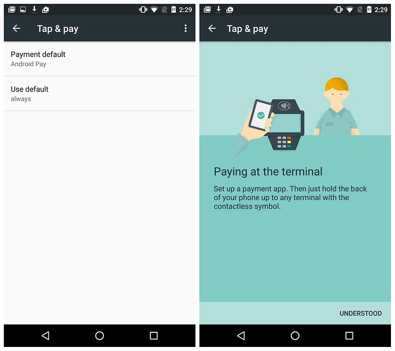 androidpit tap and pay nexus 5x tips