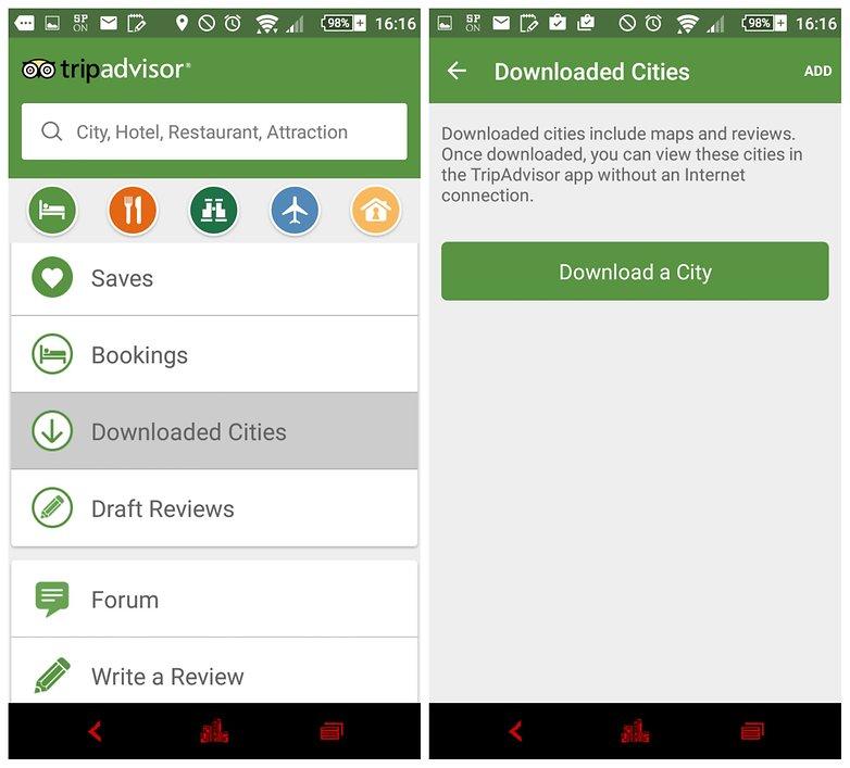 androidpit tripadvisor offline apps