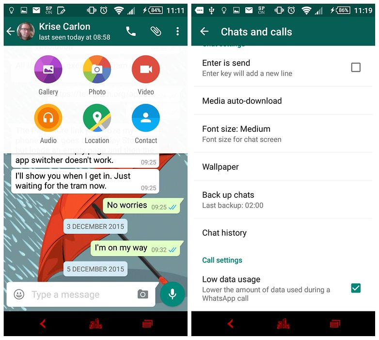 androidpit whatsapp comparison