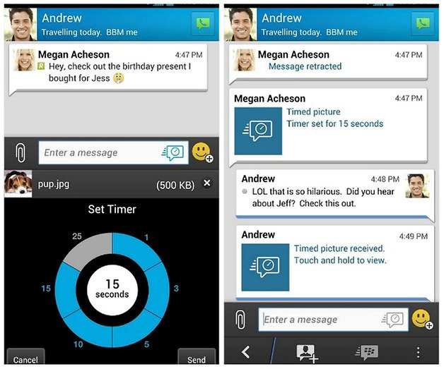 androidpit bbm messenger screenshot