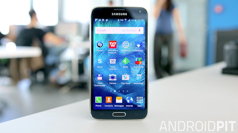 samsung galaxy s5 front screen display