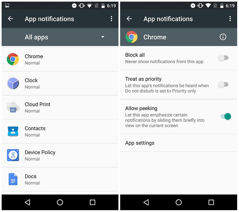 androidpit app notifications marshmallow peek