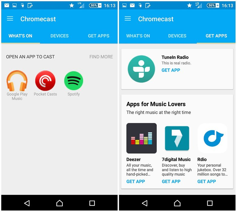 androidpit new chromecast app screenshots