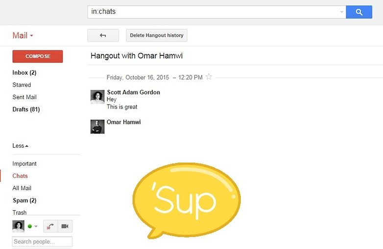 androidpit google hangouts chat email 5