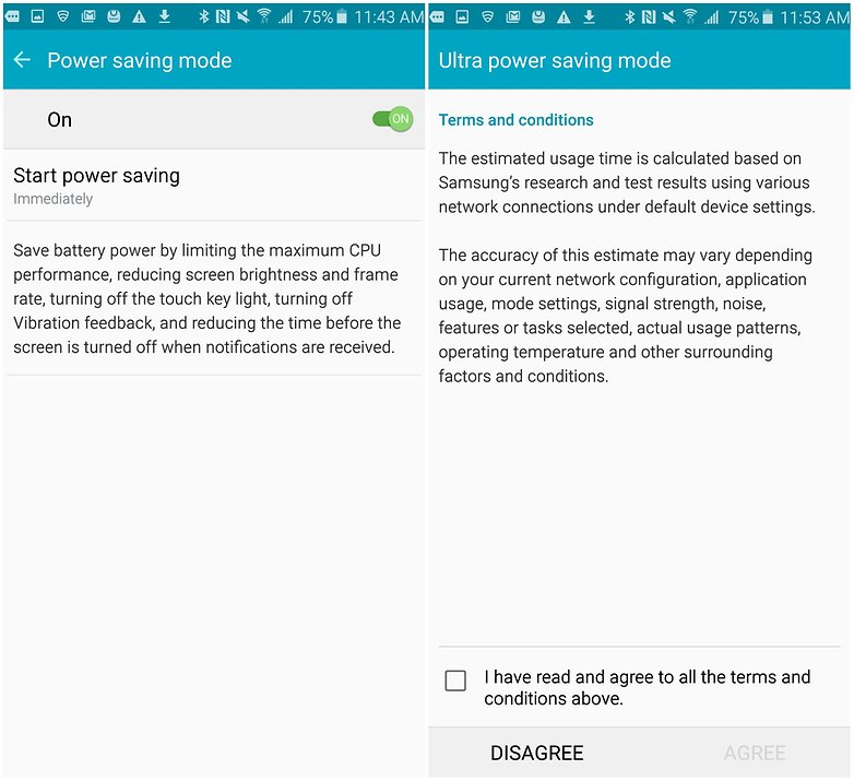 androidpit samsung galaxy note 5 battery tips power saving