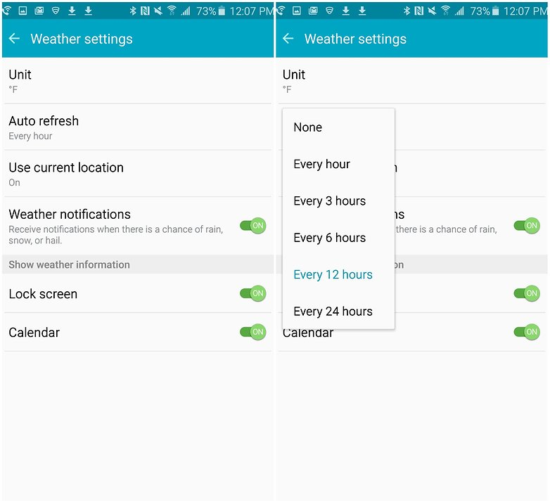 androidpit samsung galaxy note 5 battery tips weather settings