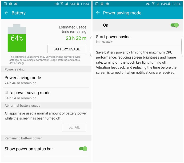 androidpit samsung galaxy s6 edge plus power saving battery
