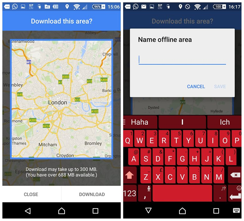 androidpit how to use google maps offline screen 2