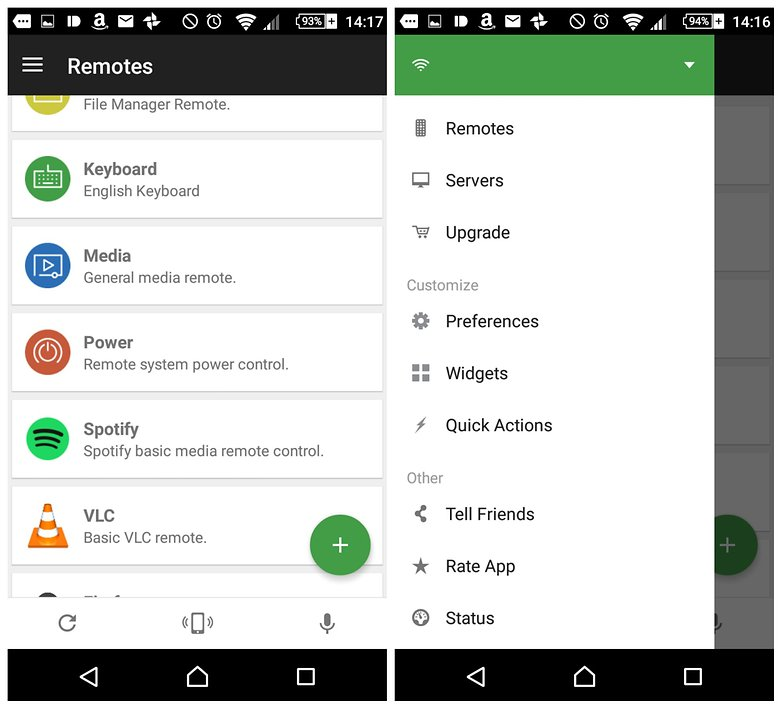 androidpit unified remote screenshots