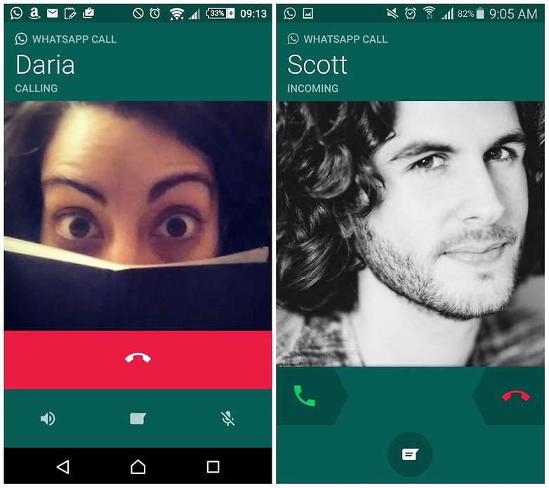 androidpit whatsapp call interface update