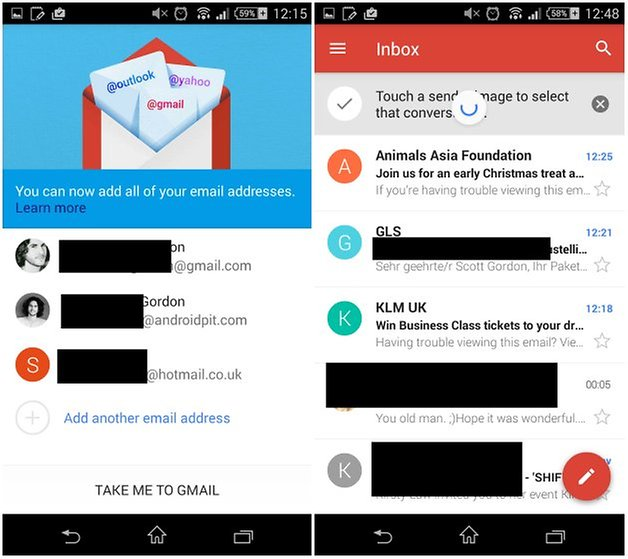 how to see my android contact in g mail