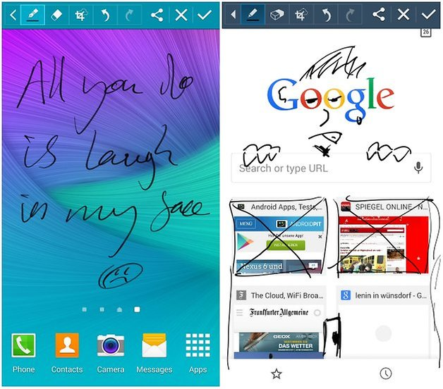 androidpit note 4 vs note 3 s pen