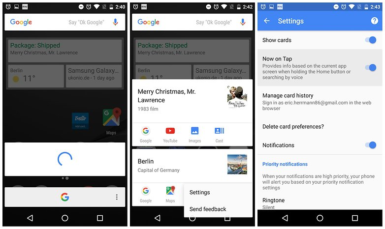 enable disable google now on tap