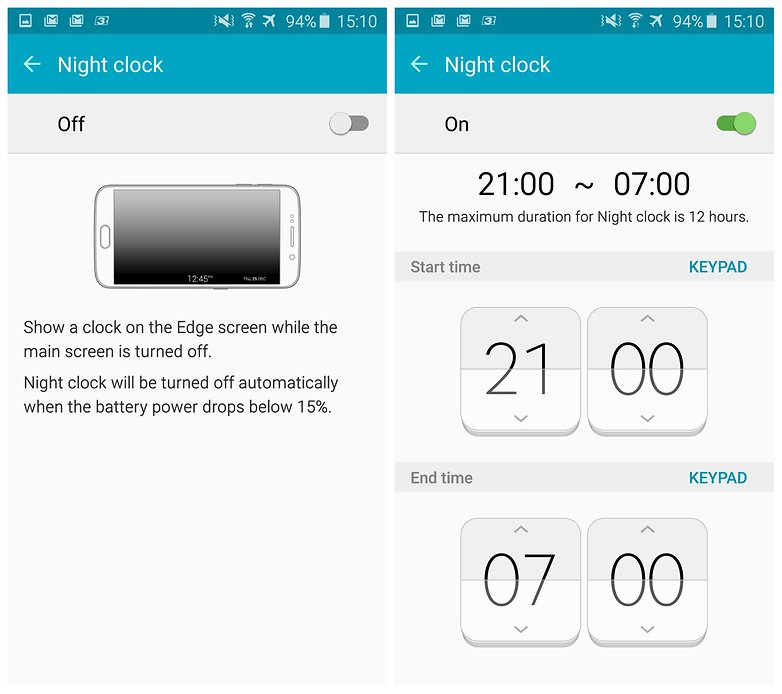 androidpit samsung galaxy s6 edge night clock 5