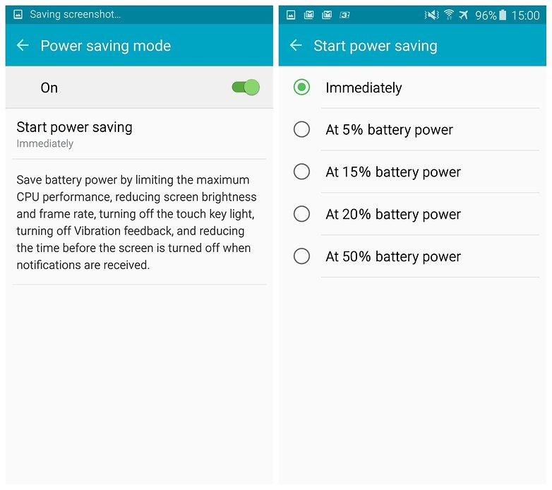 androidpit samsung galaxy s6 edge power saving