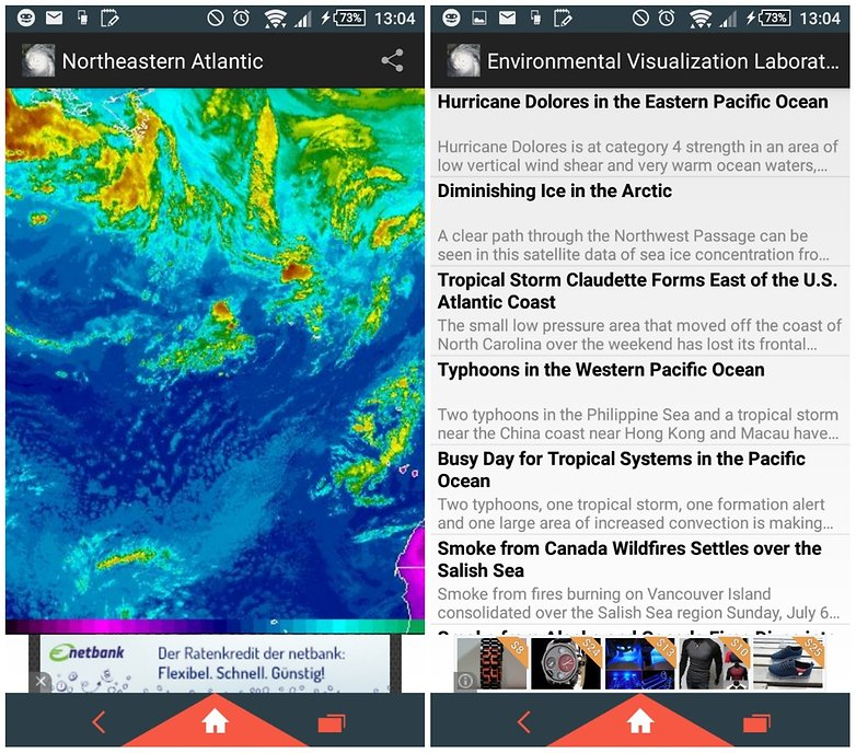 androidpit noaa weather app screenshot